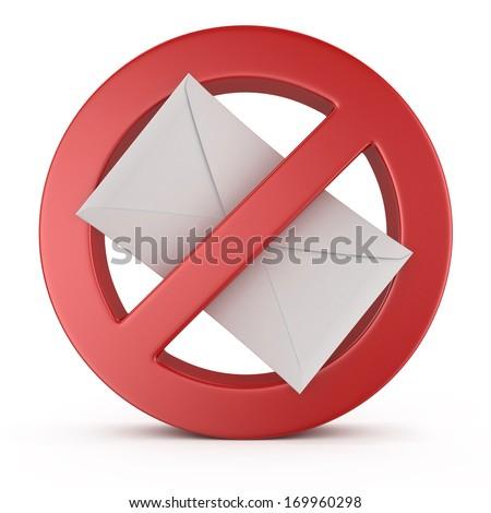 spam warning sign - stock photo