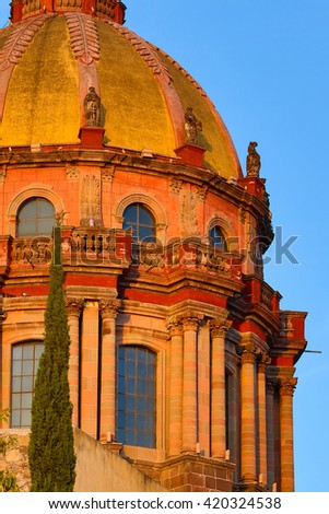 Spanish architectural detail closeup in San Miguel de Allende, Mexico - stock photo