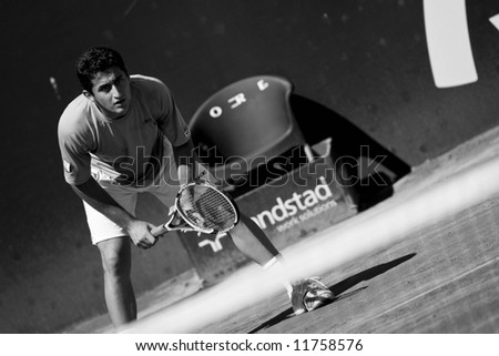 Spanish ATP Tour -Valencia City Open Tennis Championships 2008 - 2008.04.20 - Nicolas Almagro - stock photo
