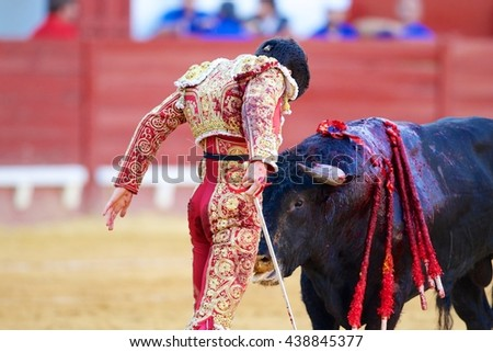 Spanish bullfighter seen from behind