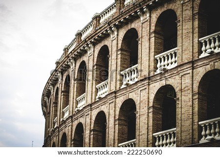 Spanish city of Valencia, Mediterranean architecture - stock photo
