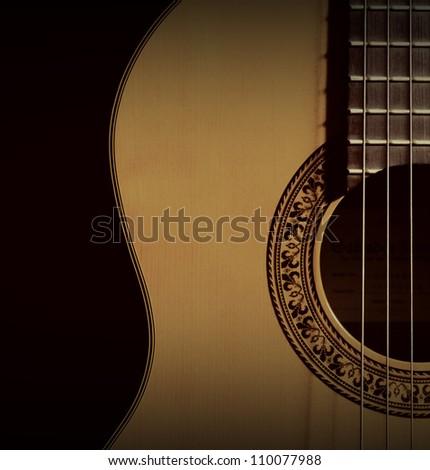 spanish classic guitar - stock photo
