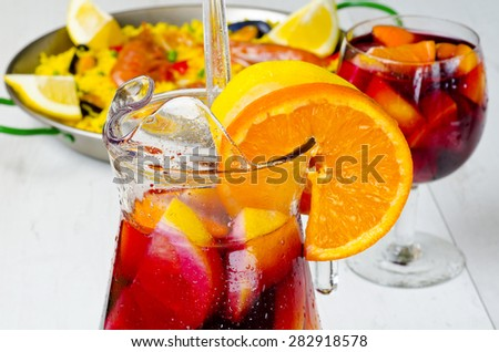 Spanish Cuisine Gazpacho Andalusian Cold Soup Stock Photo