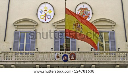 Spanish embassy in Italy, Rome, Lazio, Italy - stock photo