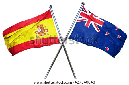 Spanish flag  combined with new zealand flag