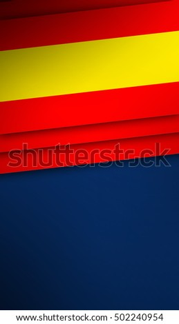 Spanish Flag, Spain Color Background Banner
