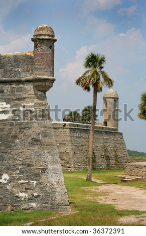 Spanish Fort in St. Augustine Florida - stock photo