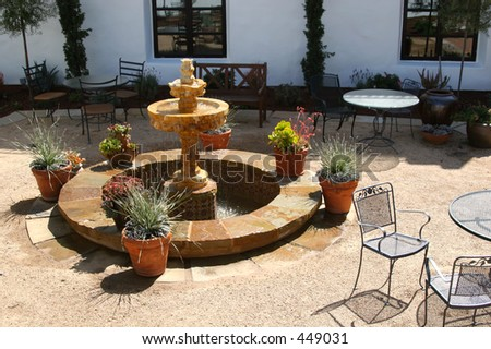 Spanish fountain - stock photo