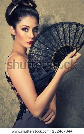 spanish girl - stock photo