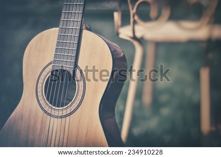 Spanish guitar - stock photo