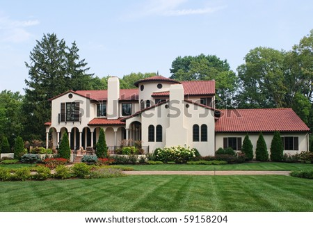 Spanish Hacienda, House - stock photo