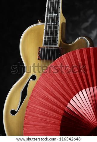 spanish jazz guitar - stock photo