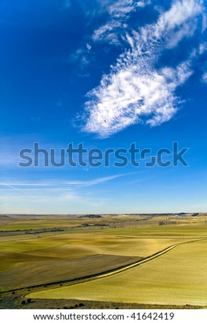 spanish landscape. Castilla - stock photo