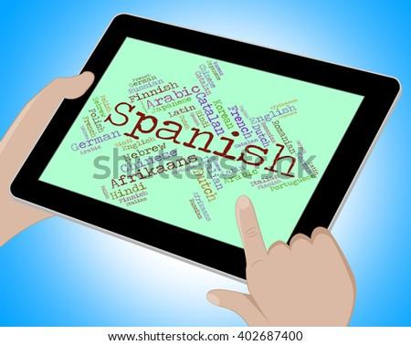 Spanish Language Showing Vocabulary Word And Lingo - stock photo