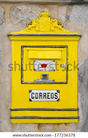 Spanish Mailbox  - stock photo