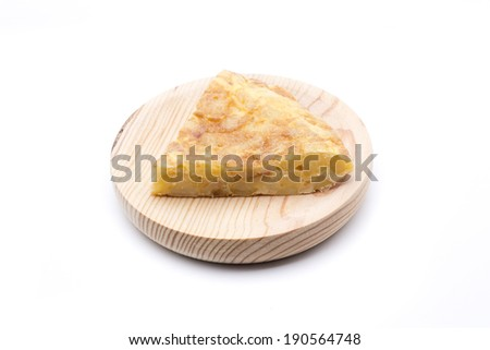 Spanish omelette, the most typical food in Spain - stock photo