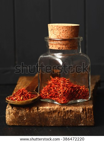 Spanish Saffron spice, shot with a macro lens