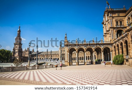 Spanish Square in Sevilla, Spain.