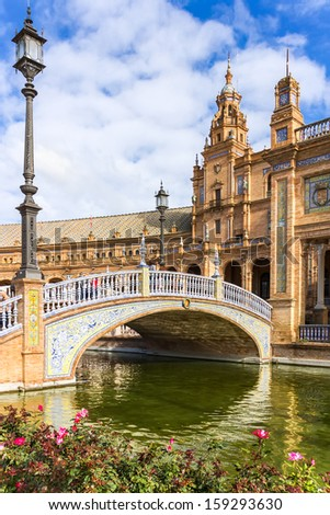 Spanish Square (Plaza de Espana) in Seville, Spain.