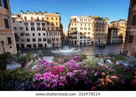 Spanish Steps, Rome, Italy - stock photo