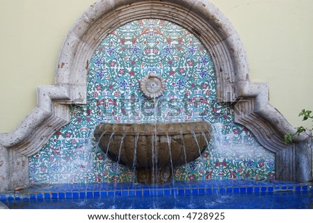 Wall fountains stock photos images pictures shutterstock - Spanish style water fountains ...