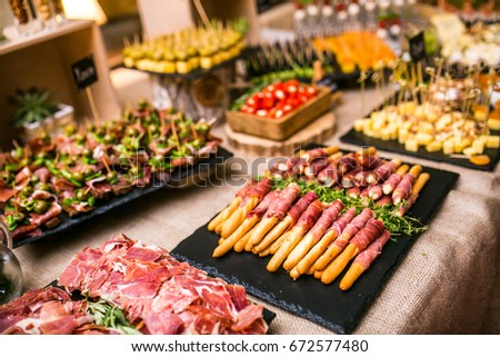 Spanish Tapas Bar Many Delicious Food Stock Photo (Royalty Free ...