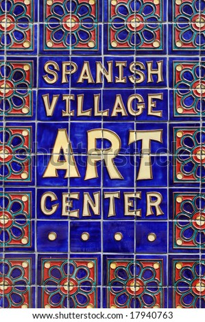 Spanish Village Art Center; Balboa Park; San Diego, California - stock photo