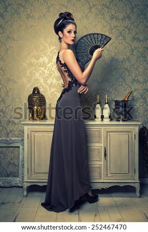 spanish woman - stock photo