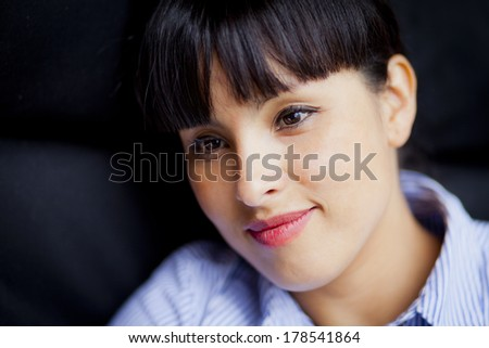 Spanish Woman Smiling  - stock photo