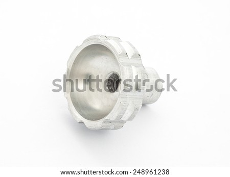 Spare part of motorcycle,bolt nut screw for decorating and maintenance on white background