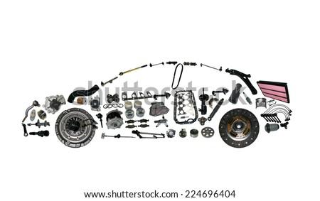 spare parts car shop auto aftermarket - stock photo