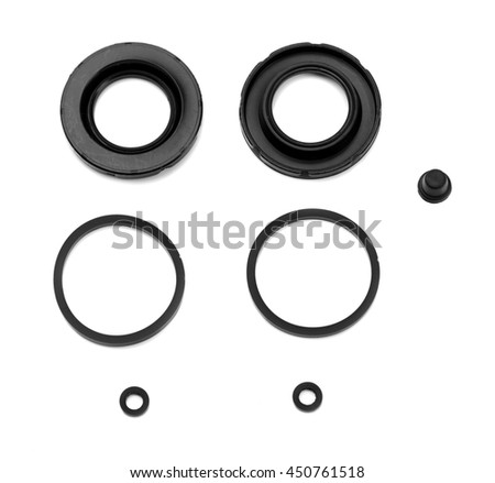 Spare parts, gum kit Caliper. Isolate on white. - stock photo