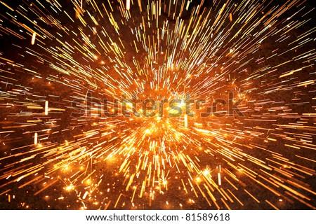 spark explosion - stock photo