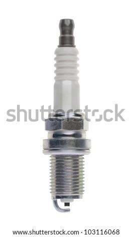 spark-plug isolated on white background - stock photo