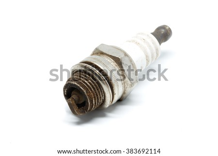 spark plugs motorcycle In white background