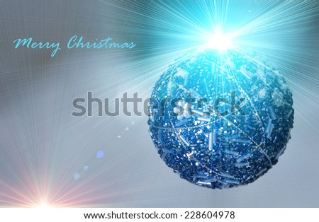 Sparkle christmas decoration ball as greeting with text