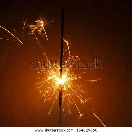 sparkler    - stock photo