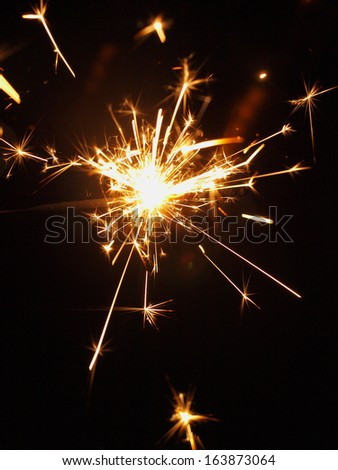 sparkler - stock photo
