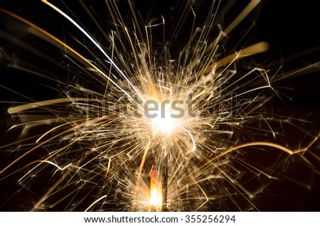 sparklers light firework - stock photo