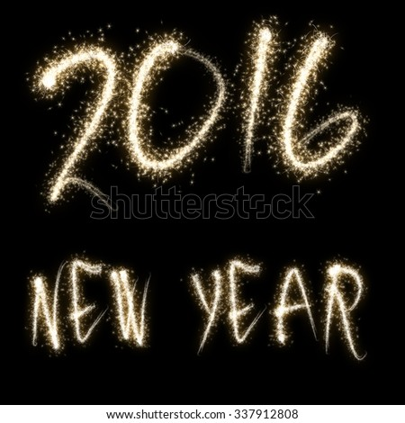 Sparkles sign - NEW YEAR 2016