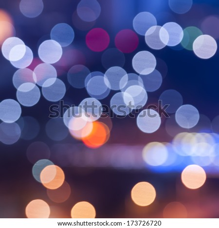sparkling and defocused lights background. blue bokeh background. - stock photo