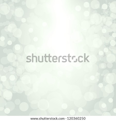Sparkling blue seasonal holiday background with white lights. - stock photo