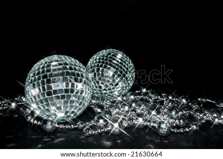 sparkling decorations - stock photo
