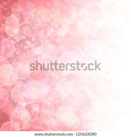 Sparkling pink seasonal holiday background with white light. - stock photo