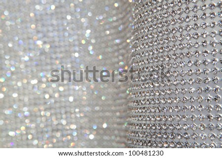 sparkly grey background with focus and defocused zones - stock photo