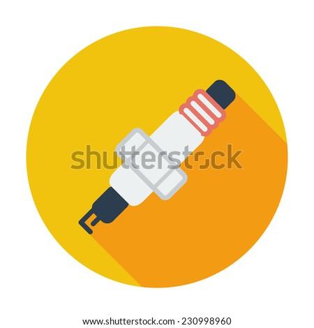 Sparkplug. Single flat color icon. - stock photo