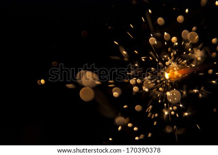 sparks from a Bengal fire - stock photo
