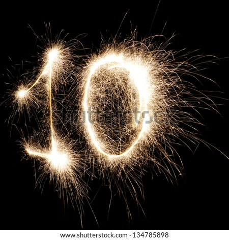 sparks on a black background - stock photo