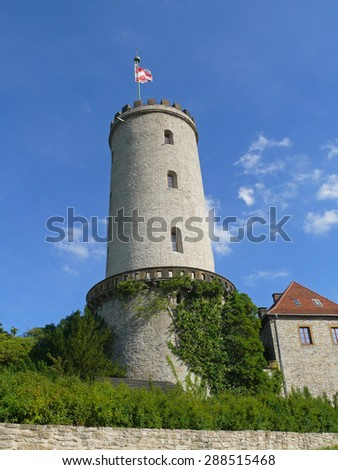 sparrenburg castle bielefeld - stock photo