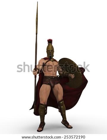 spartan stance - stock photo